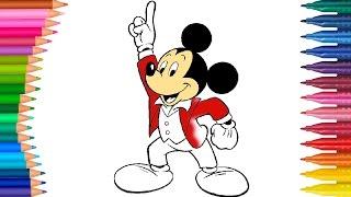 Mickey Mouse Miki Fare Izgi Film Karakter Boyama Minik Eller Boyama