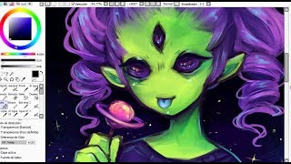 SPEEDPAINT - Alien Girl