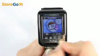 mx ak08 ultra thin tri band mp3mp4 touch screen 2g cell phone watch