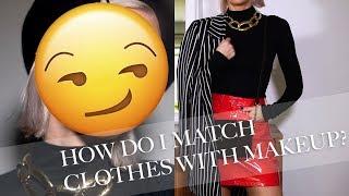 How I match outfits With Makeup (English Subs)   Linda Hallberg