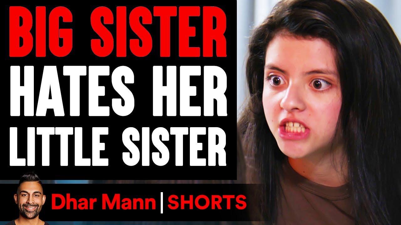 Big Sister HATES Her LITTLE SISTER #Shorts | Dhar Mann Studios