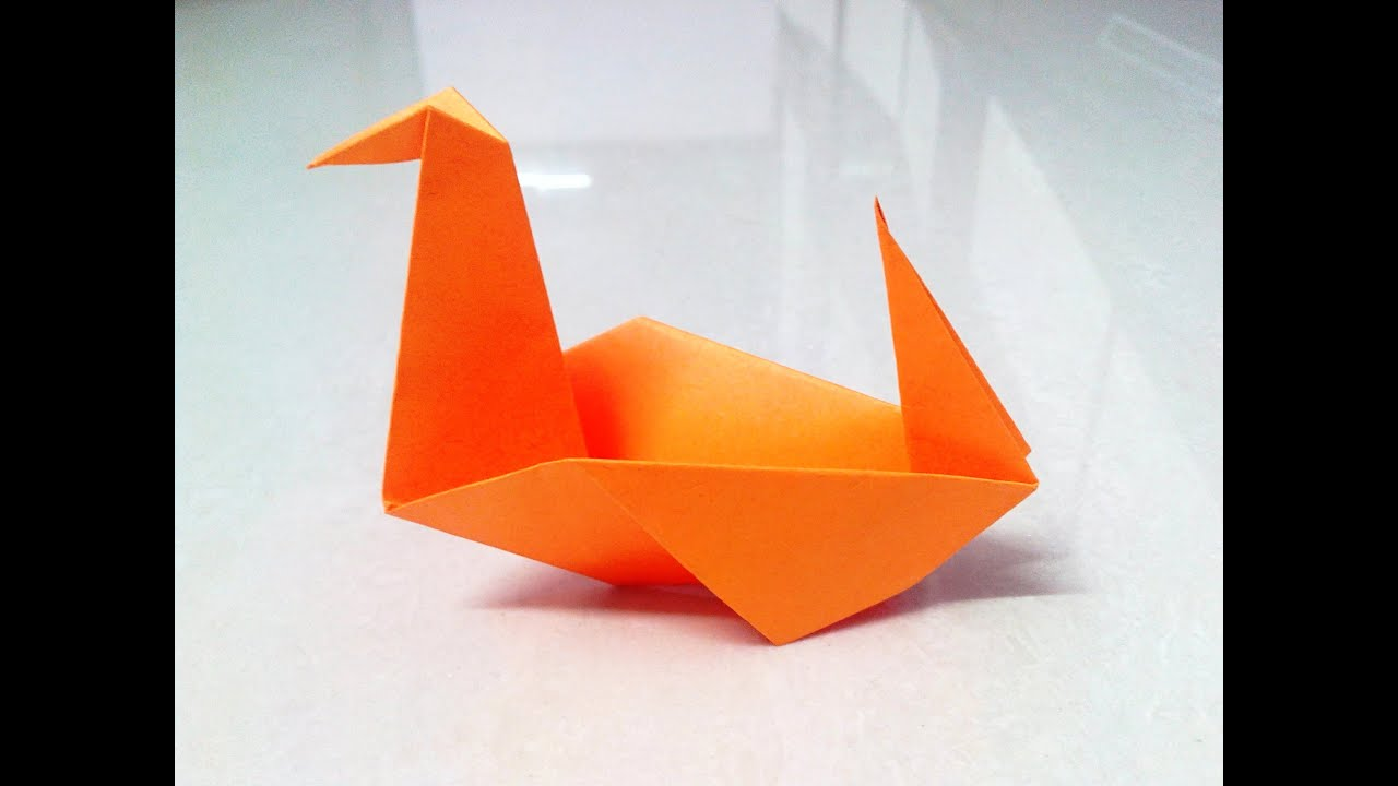 how to make an origami duck youtube