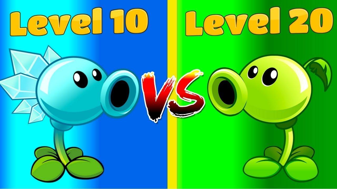 Plants vs Zombies 2 PEASHOOTER (20) vs SNOW PEA (10) - YouTube