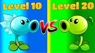Plants vs Zombies 2 PEASHOOTER 20 vs SNOW PEA 10