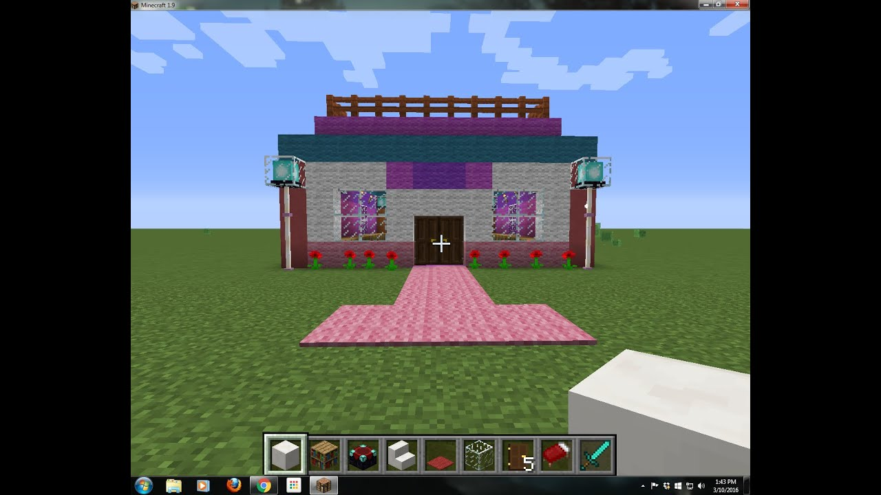 exciting a big house in minecraft. How to Build a big My Little Pony House  YouTube