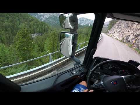 POV Driving Scania R450 - Cortina d'Ampezzo SS51,Italy