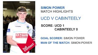Simon Power Match Highlights UCD v Cabinteely LOI