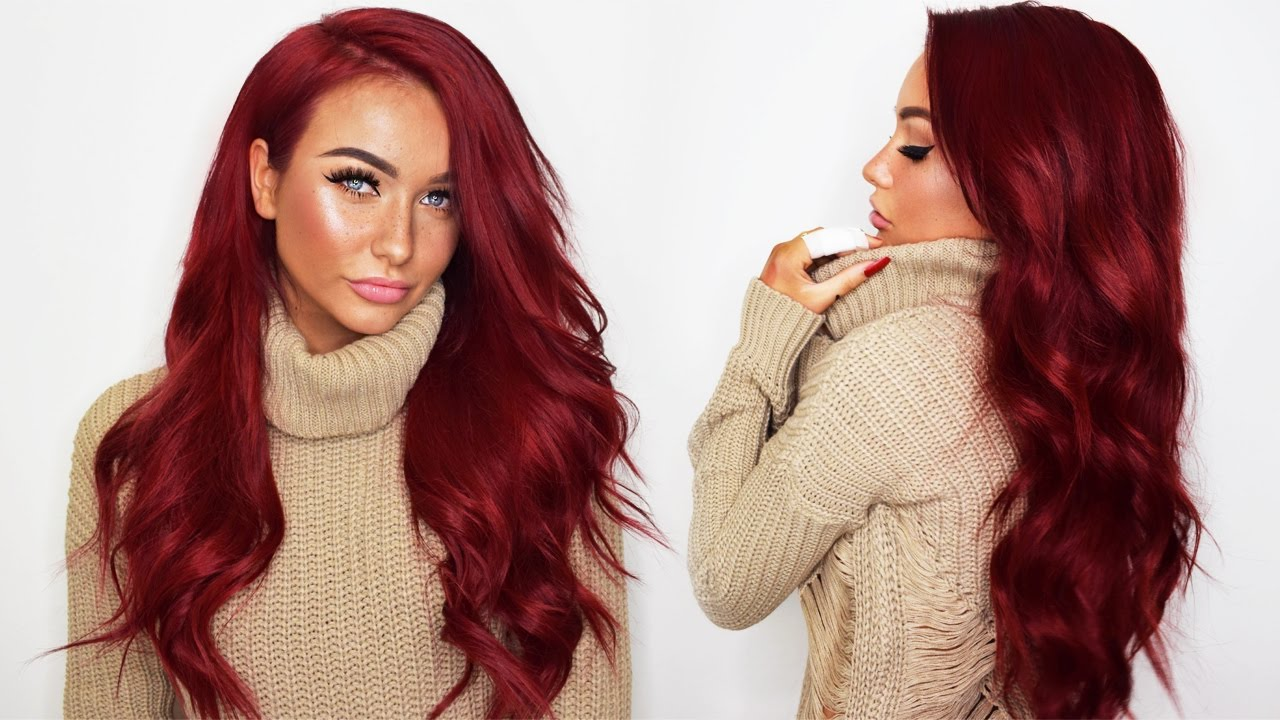 How I dye my Bellami Hair Extensions RED + UNBOXING the Bellami BOO ...