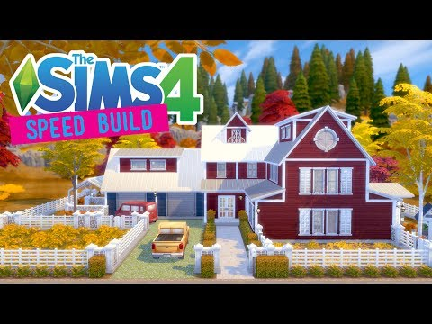 The Sims 4 -Speed Build- SuburBarn Family Farmhouse - No CC -