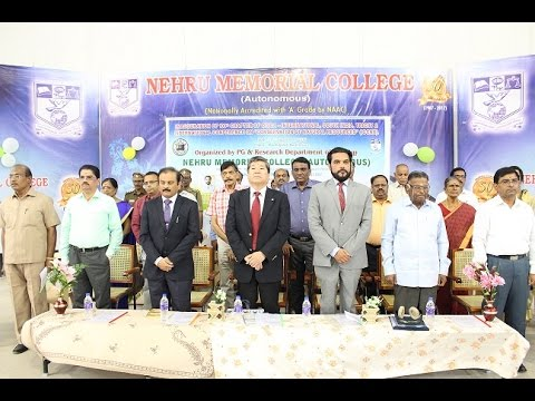 Nehru Memorial College Puthanampatti International Conference Zoology Dept 2016