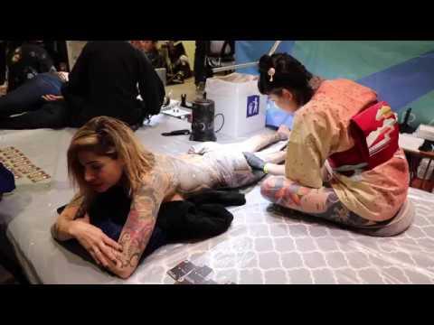 Female tebori l golden state tattoo expo l la hand poke l for La tattoo convention