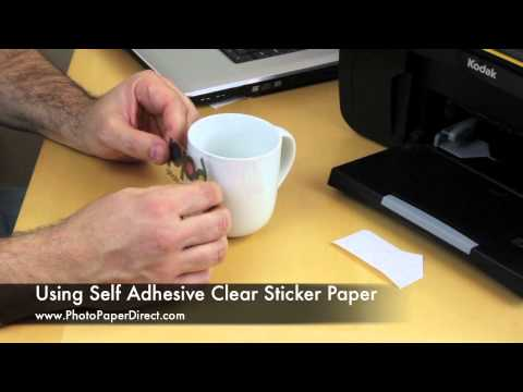 Using Self Adhesive Clear Sticker Paper Youtube