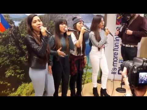 "4th impact live at the Philippine Embassy London ""I loved the way you lie"""