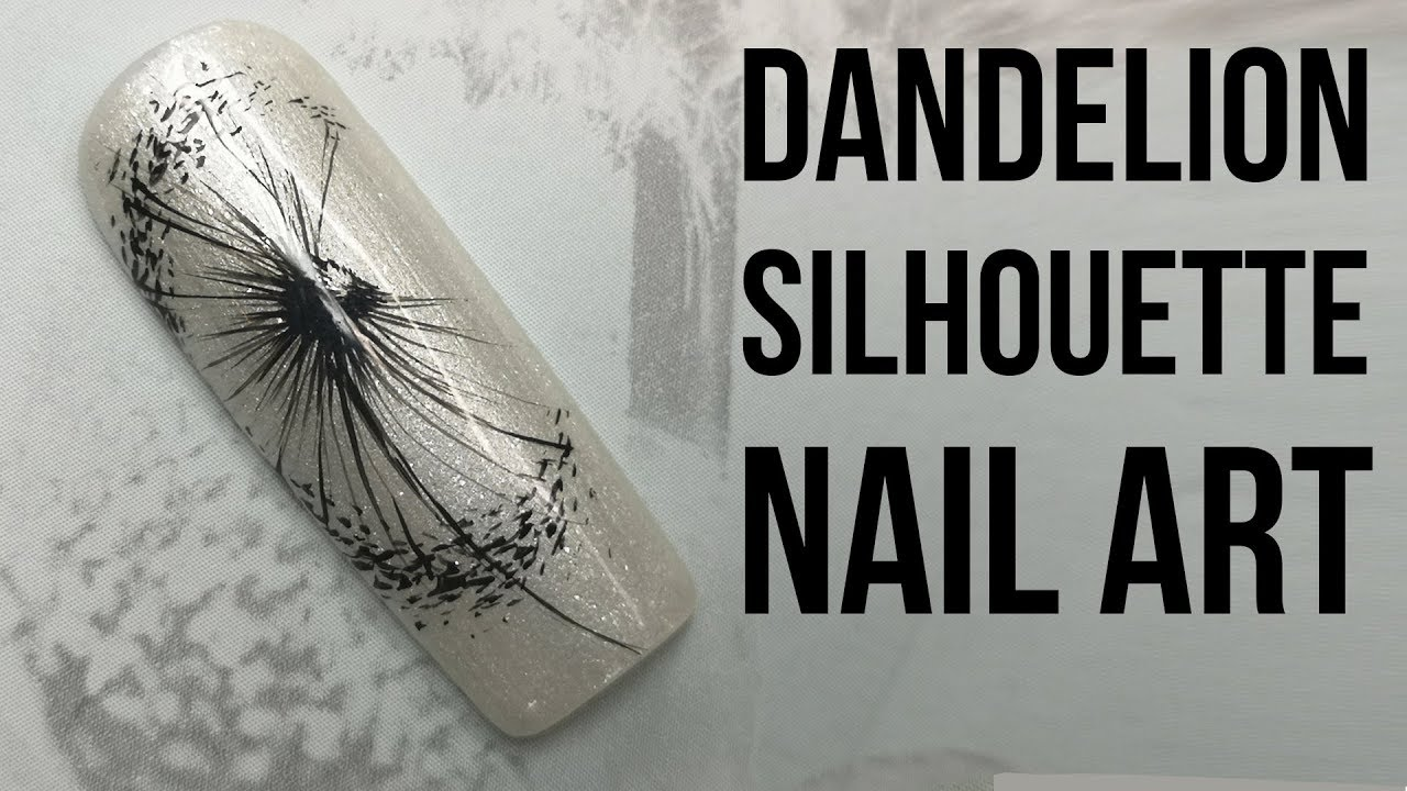 hand painted dandelion silhouette