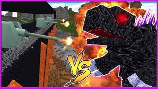 MOBZILLA VS MOST SECURE MINECRAFT BASE EVER! (Mobs Vs Base Challenge)