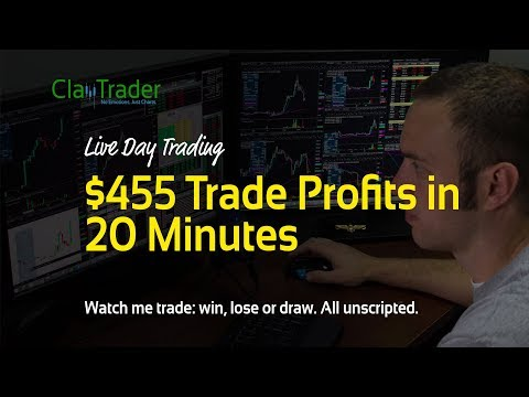 Live Day Trading - $455 Trade Profits in 20 Minutes