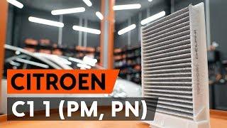Comment changer Filtre climatisation CITROËN C1 (PM_, PN_) - video gratuit en ligne