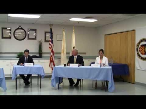 Stacia Petri (R) debates Mayor Scott Avedisian