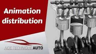 Animation distribution moteur 4 cylindres 16 soupapes