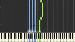 Nursery Rhyme Piano - Row Row Row Your Boat [Synthesia]