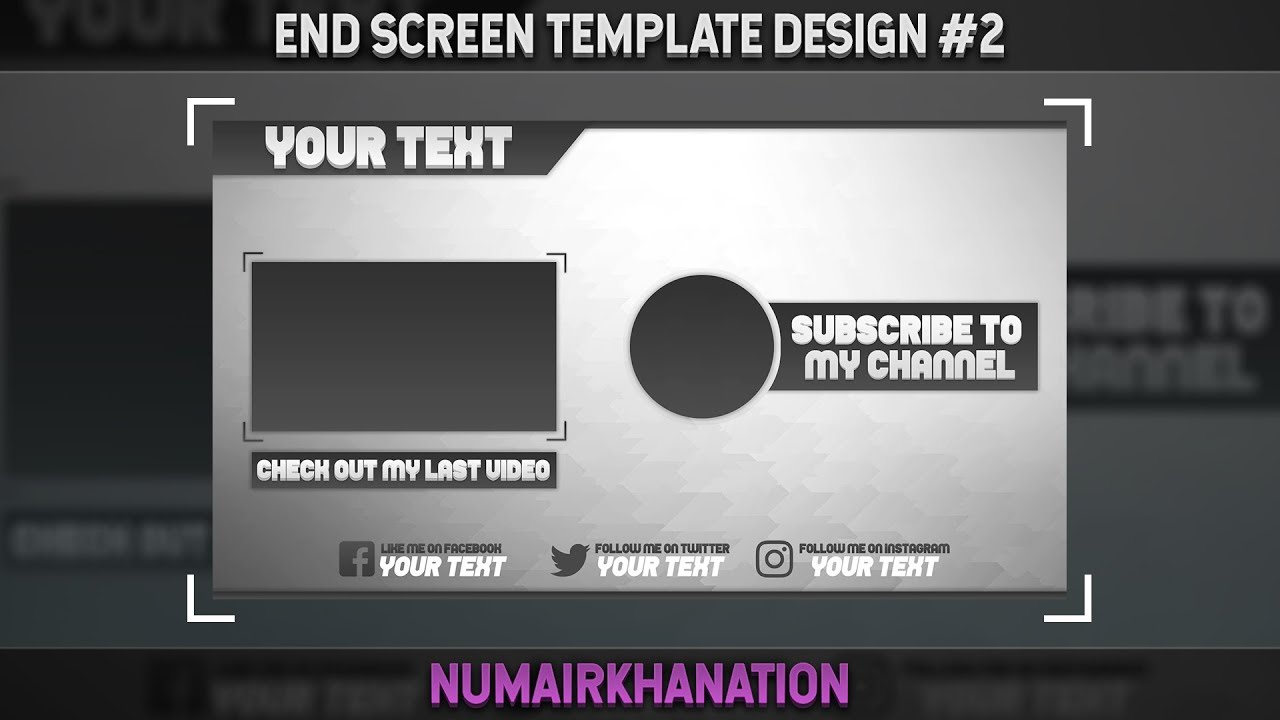 Dorable Youtube Video Template Psd Component - Resume Ideas ...