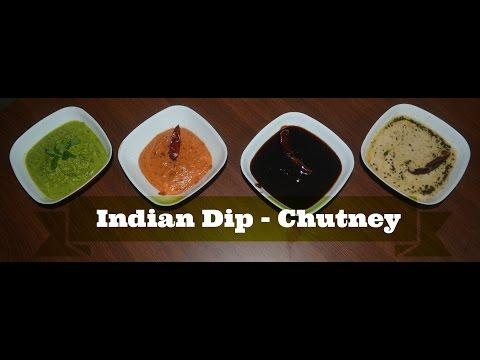 4 Chutney Recipe | Indian Dip Recipe | Easy Recipe