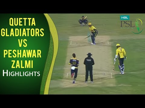 PSL 2017 Final Match: Quetta Gladiators vs. Peshawar Zalmi Mini Highlights