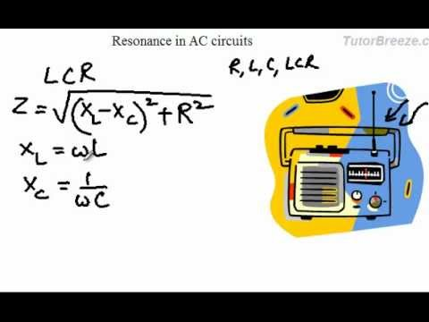 Resonance in AC circuits(Series LCR)