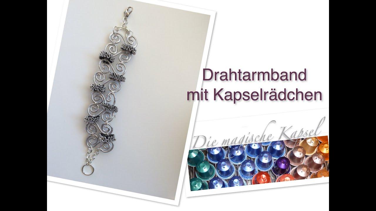 NESPRESSO SCHMUCK ANLEITUNG Draht-Armkette mit Kapseln - DIE ...