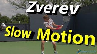 Alexander Zverev Slow Motion Forehand, Backhand & Slice Backhand (Cincinnati 2014)