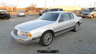1985 Ford Thunderbird LX V6 Start Up, Exhaust, and In Depth Tour