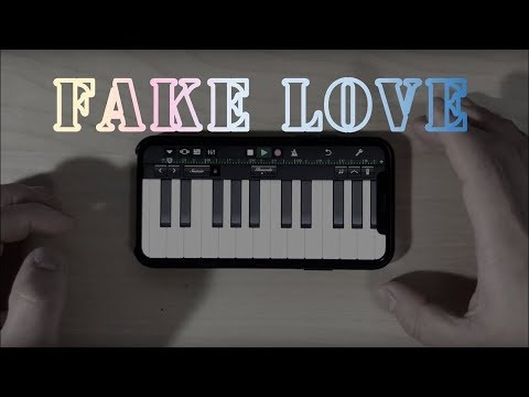BTS(방탄소년단) - Fake Love (Garageband iPhone X) (Song starts 3:08)
