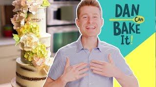 Wedding Cake Under $100 🎂 DAN CAN BAKE IT CHALLENGE #3