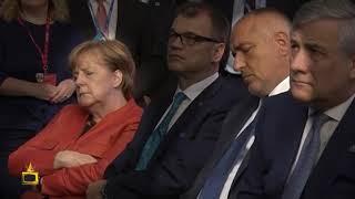 Ангела Меркел почти не заспива на рамото на Доналд Тръмп