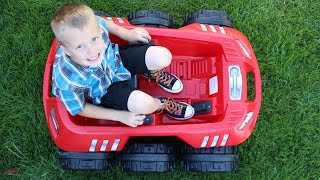 Step2 Spin & Go Extreme Cruiser 12V Ride-On Car Obstacle Course