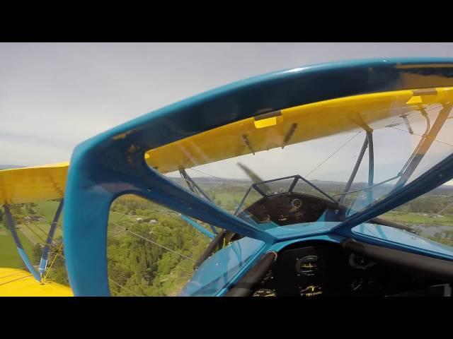 WACO UPF-7 N29949 landing at Daybreak WA