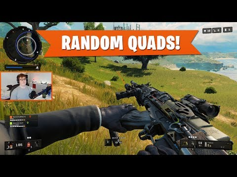RANDOM QUADS! | Black Ops 4 Blackout | PS4 Pro