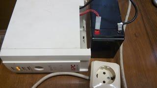 Переделка старого Бесперебойника в Инвертор 12-220в и восстановление аккумулятора.