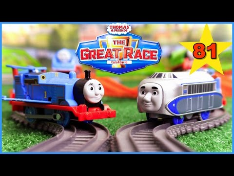 new-the-biggest!-thomas-and-friends-the-great-race-#81-|trackmaster-thomas-kids-playing-toy-trains