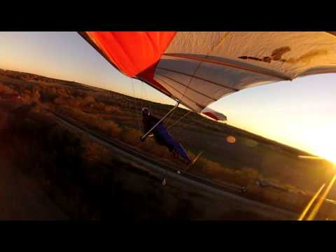 GoPro: Hang Glider Racing a Train