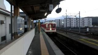 神戸電鉄粟生線1100系[普通]進站(粟生)