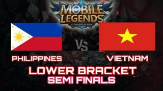 LIVE : PHILIPPINES VS VIETNAM LOWER BRACKET SEMIFINALS MOBILE LEGENDS SEA GAMES 2019