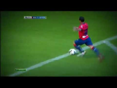 Sergio Busquets skill FAIL ! Barcelona vs Osasuna 2 - 1 [Aug.26 2012]