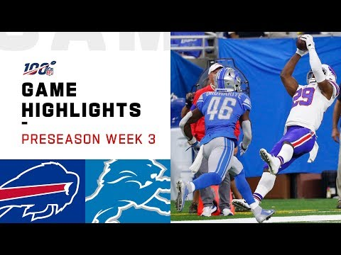 Bills vs. Lions Preseason Week 3 Highlights | NFL 2019
