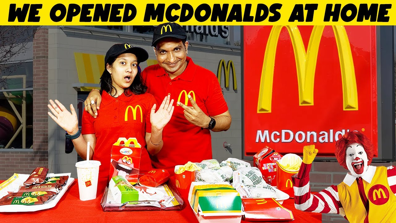We opened a REAL McDonald's in our HOME 🍔 | Types of Customers at Restaurant | Cute Sisters