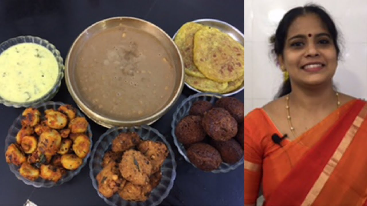 Avani Avittam Spl/Paruppu Poli/Instant Appam/Paruppu payasam/Paruppu Vadai/Vendaikkai Moor Kuzhambu