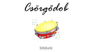 Hangszer ovi - Sétálunk (csörgődob) / Hungarian children song (cat, cow, dog, animal)