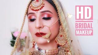 HD BRIDAL मेकअप कैसे करें😍 || Indian Traditional Wedding Makeup—By Monika