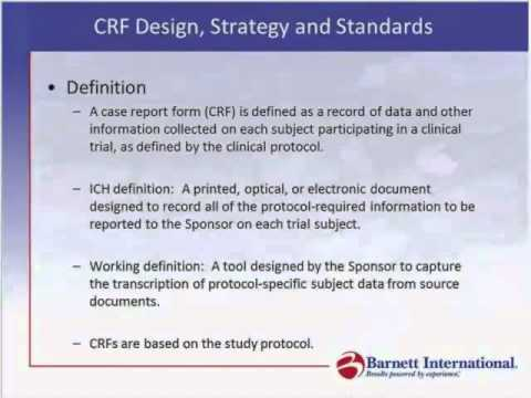 Case Report Form Design, Strategy & Standards Trailer