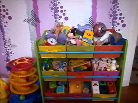 quelques id es de rangement armoire jouets youtube. Black Bedroom Furniture Sets. Home Design Ideas